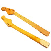Wholesale guitars necks left hand online - Left Hand Guitar Neck Frets DIY Unfinished Maple Neck For Electric Guitar Neck Replacement Parts