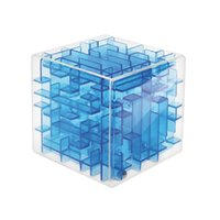 Wholesale Green Board Games - Green Maze Magic Cube Puzzle 3D Mini Speed Cube Labyrinth Rolling Ball Toys Puzzle Game Cubos Magicos Learning Toys For Children