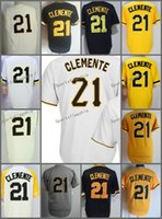 2018 Flexbase # 21 Roberto Clemente cool Maglia casalinga Yellow Grey Cream Bianco Camo Black Pullover Cool Stitched Base