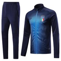 Wholesale Italy Trains - A+++ quality 2018 world cup Spain Soccer jacket TRAINING SUIT 2018 Belgium Argentina soccer jacket kit Italy adult TRACKSUIT SPORTSWEAR