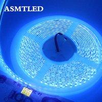 uv streifen führte wasserdicht großhandel-ASMTLED UV-ultravioletter geführter Streifen 5050 60LEDs / m DC12V 0.5m 1m 2m 3m 4m 5m imprägniern / nicht wasserdichte Bandlampe Superhelles