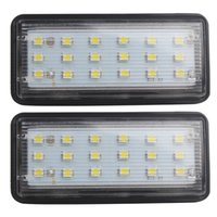 Wholesale mark x - 2pcs LED Car License Plate Lights for Toyota Land Cruiser Prado Reiz Mark X SMD3528 Auto Number Plate Lamp for Lexus LX470 LX570