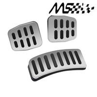pedales de freno del embrague al por mayor-Manual del coche de transmisión del coche inoxidable MTpedal cubierta para VW Polo Bora Lavida Fabia Clutch acelerador pedal de freno Kits de pedal