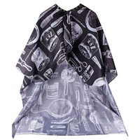 Wholesale hair salon aprons - Best Selling products Pattern Cutting Hair Waterproof Cloth Salon Barber Cape Hairdressing Hairdresser Apron Haircut capes