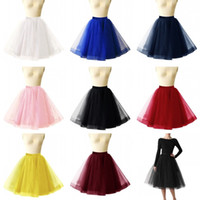 Wholesale Petticoat Girls - 0 Colors Short Wedding Petticoat Skirts Tulle Crinoline 2018 Underskirt Tutu For Girl Cheap Wedding Accessories CPA1090