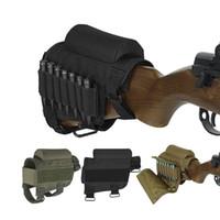 bolsas tácticas al por mayor-Nylon Tactical Cheek Rest Riser Pad Cartuchos de munición Holder Carrier Bolsa de lona Round Cartridge bag shell Buttstock Munición