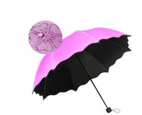 regenschirmprinzessin groihandel-Neue Dame Princess Magic Flowers Dome Sonnenschirm Sun / Rain Taschenschirm Windproof Sunscreen Magic Flower Umbrella DHL FREE