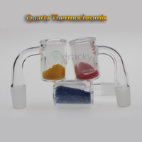 Wholesale changing color nail - New Quartz Thermochromic Bucket Banger 10mm 14mm 18mm Male Female Color Changing Quartz Thermochromic Banger Nails For Glass Bongs Dab Rigs