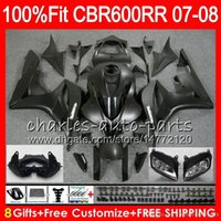 Wholesale Headlight Brackets - Injection body+Headlight+Bracket+rearseats For HONDA CBR 600 RR CBR600RR 07 08 Matte black CBR 600RR F5 07 08 CBR600F5 CBR600 RR 2007 2008