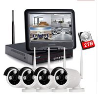 ingrosso monitor nvr cctv-1080P Wireless NVR Kit Monitor LCD da 10 pollici Telecamera IP WiFi 2MP Telecamera TVCC P2P P2P Sistema di sicurezza domestica Monitoraggio LLFA