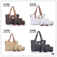 Wholesale distressed leather wallet - 2018 famous brand Designer fashion women luxury bags lady PU leather handbags brand bags purse shoulder tote Bag female handbags wallets A01
