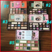 Wholesale White Chocolate Wholesale - Faced Makeup 18color Chocolate Bar Eyeshadow Sweet Peach Bon Bons semi-sweet Palette 16 Color white chocolate bar Eye Shadow plalette DHL