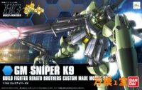 Wholesale Anime Gundam - 1PCS Bandai HG Build Fighters HGBF 1 144 010 GM Sniper K9 Gundam Mobile Suit Assembly Model Kits Anime action figure Gunpla