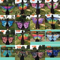 ingrosso pashminas di pavone-Sciarpa delle donne pashmina farfalla ala del capo pavone scialle avvolgere regali carino novità stampa sciarpe pashminas 18 colori