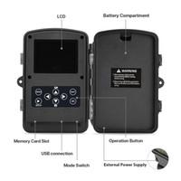 tarjeta pir al por mayor-PH 730 cámaras de caza 12MP visión nocturna HD PIR Scouting cámara oculta en vivo grabadora al aire libre a prueba de agua gran angular con 32 GB SD CARD