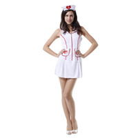 Wholesale Halloween Dress Nurse - halloween cosplay sexy japan nurse costume xxx sexy nurse photos sexy costume dress for adult party