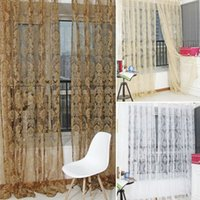 Wholesale tulle fabric for sale - Hot sale Fashion Finished Window Screening Tulle Modern Sheer Curtains For Living Room The Bedroom Fabric For Curtain In Stock