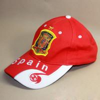 brezilya kepleri toptan satış-Rusya Dünya Kupası Hatıra Futbol Hayranları Casquette Beyzbol Şapkası Erkek Kadın Snapback Şapka Sunbonnet Brezilya Fransa Futbol Takımı Açık Spor Caps