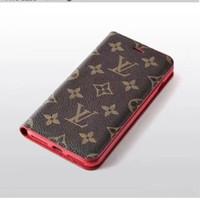 wallet case al por mayor-Marca de moda de lujo caja del teléfono para Iphone X XR Xs Max 7 7plus 8 8plus Funda con tapa de cuero para teléfono de color caramelo Funda protectora de cuero