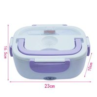 Wholesale mini electric cooker - 12V Mini Electric Car Heat Insulation Thermo Lunch Box Charging Hot Rice Cooker Multi Functional Plug Plastic Box Seal Cutlery