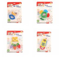 Wholesale wholesale plastic baby rattles - Nurseling Teether Cute Mini Phone Shape Rattles Baby Infant Training Tooth Toy Many Style 4 9lk C R