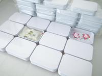 minze süßigkeiten feld großhandel-200 stücke 110X80X25mm Rechteck weiß tee blechdose mint pille candy schmuck aufbewahrungsbox kostenloser versand