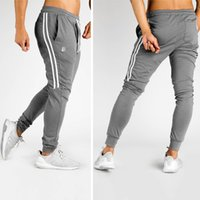 9b56f55aa680b 2018 Run Jogging Pants Men Black Joggers Gym Training Running Pants Men  Striped Sportswear Sweatpants Track pants Sport Trousers. Supplier   diegonovo