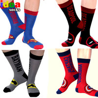 Wholesale union cartoons - Wholesale- Classic cartoon anime cotton jacquard mens socks super union hero long skateboard socks street sox chaussette homme