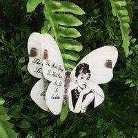 стикер стены хепберн оптовых-10 шт. 3d бабочка стены декор красивые Hepburn бабочки стены наклейки
