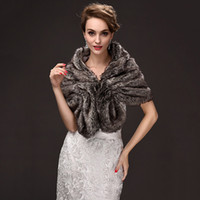 Wholesale accessories wedding winter fur resale online - Brown New Fashion Faux Fur Wedding Bridal Wraps Elegant Bridal Shawls Beloro Wedding Accessories CPA971