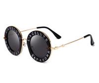 vintage-produkte groihandel-Trend-Produkte Retro-Metallrahmen-Sonnenbrillefrauen der Bienendesignerluxusfrauen-Sonnenbrillenrosa-Art und Weiserundes Briefmusterweinlese