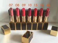 barra de labios nueva llegada al por mayor-Nueva marca de la llegada T F maquillaje lápiz labial color de labios mate 3g ENVÍO GRATIS 12pcs / lot