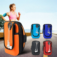 Wholesale gym cell phone holder for sale - Group buy Universal Jogging Bags Armband Waterproof Sports Running Case Bag workout Armbands Holder Pouch For Samsung Cell Mobile Phone Colors