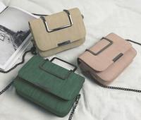 Wholesale light black metal online - The latest metal portable mini messenger small bag Korean all match flip chain shoulder bag Bao