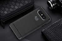Wholesale apple beat for sale - Group buy 1 mm Carbon Fiber Case For LG Q8 V20s V20 mini V34 V34 isai Beat X800 Luxury Brushed Silicone Soft Rubber Back Cover Slim Armor Rugged Skin