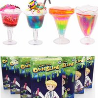 Wholesale toy tools for kids for sale - Make Your Own Slime for Kids DIY Blowing Bubbles Fun Toys jelly clay Sensory Play Science Crystal Mud Educational Tool color KKA4492