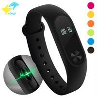 Wholesale Displays For Watches - M2 XIAOMI Fitness tracker Watch Band Heart Rate Monitor Waterproof Activity Tracker Smart Bracelet Pedometer Call remind With OLED Display