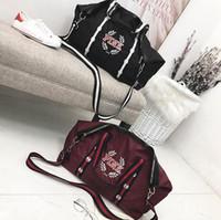 Wholesale large red bowl - Pink Letter Handbags Shoulder Bags Women Love Pink Handbags Large Capacity Travel Duffle Striped Waterproof Beach Shoulder Bag 10pcs OOA4436