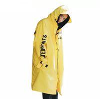 yağmur ceketi kadın toptan satış-Erkek Yüksek Sokak Yağmur Ceket Ceket Su Geçirmez Güneş Kremi Rüzgarlık Kadınlar Rahat Gevşek Moda Marka Dış Giyim Uzun Kollu Tops