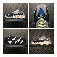 Wholesale Cheap Soft Fabric - New 2018 Cheap Boots Sports Shoes Kanye West Wave Runner 700 Running Shoes WaveRunner Men Women Running Shoes