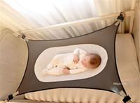 Wholesale newborn hammock - 5colors 104*76CM Newborn baby Removable hammock Infant portable hammock cot bed kit baby safe Iqammocking hammock BHB30