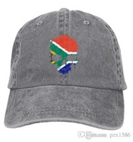 Wholesale african hats for sale - pzx Baseball Cap for Men Women South  African Flag Skull 7536130df20
