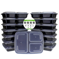 Wholesale Food Barbecue - 15 Pack Meal Prep Containers 3 Compartment with Lids Food Containers Lunch Box