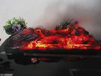 Wholesale museum art - Electric fireplace simulation charcoal fake firewood Bonfire shoot props museum hall decorations art craft small Size resin imitation light