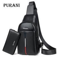 Wholesale branded sling handbags for sale - Group buy PURANI Famous Brand Man Sling Bag Men Chest Pack Messenger Bag Men Leather Shoulder Crossbody Bags for Mens Purses and Handbags