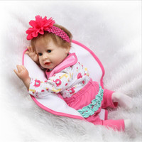 Wholesale latex rubber clothes - Silicone Rebirth Girl and Simulation Sleeping Baby Comfort Baby Toys Clothing Models Photography Props Creative Personality Toys