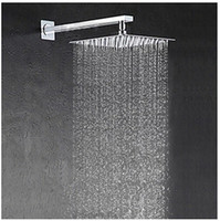 Wholesale chrome pipes - Free shipping 25cm * 25cm square stainless with arm ultra-thin 10 inch showerheads with pipe rainfall shower head.Rain shower.