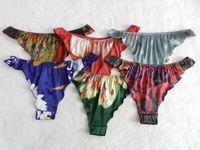 6pcs FLOWER 100% Pure Silk Women s Bikini String Thong Panties M L XL XXL 011d97f1b