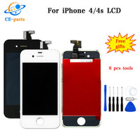 Wholesale display 4g - AAA Best Quality White Black Replacement Parts For Apple iPhone 4G 4S LCD Screen Display Assembly Complete Fast Shipping