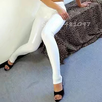 4a3446337330e0 Hot Sexy 100% nature white latex tight skin leggings rubber pants for sexy  girl cosplay costumes no zipper custom made
